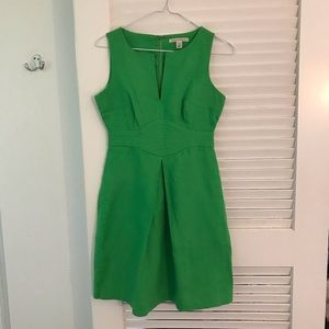 Banana Republic Linen Green Dress with pockets